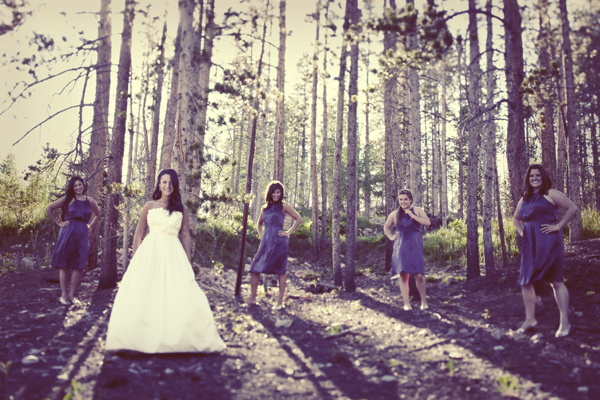 Wedding in Breckenridge Colorado in the Spring time.