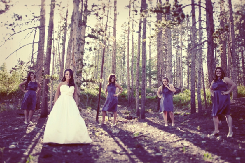 Wedding in Breckenridge Colorado in the Spring time.