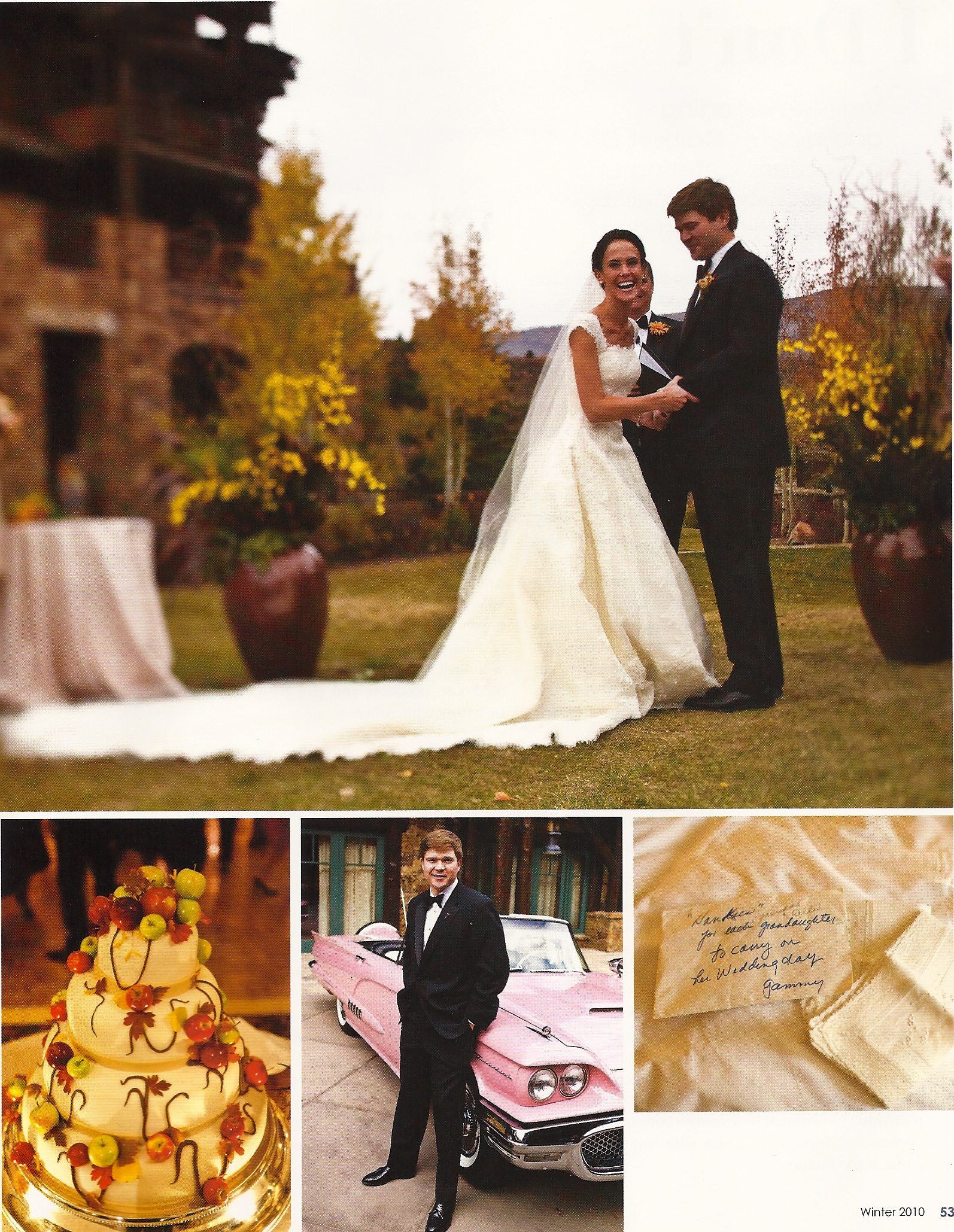 Wedding at the Ritz Carlton in Bachelor Gulch Published in the Colorado View