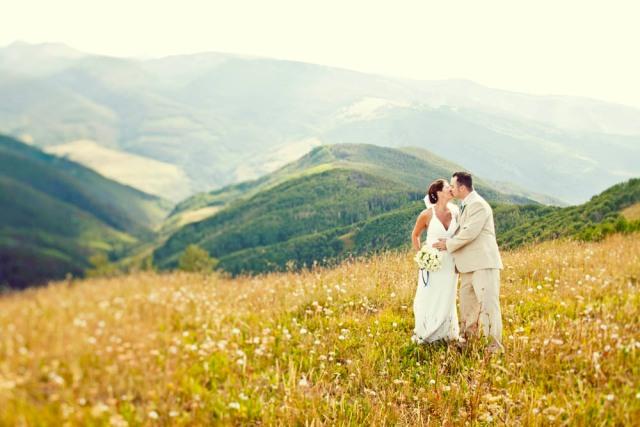Wedding photos at the Vail Wedding Deck