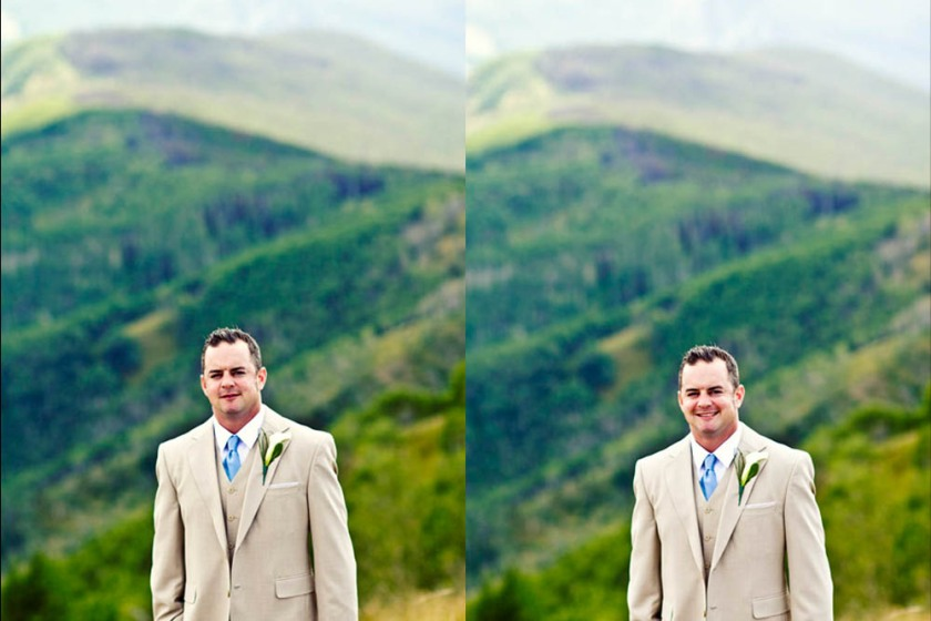 Wedding photos at the Vail Wedding Deck