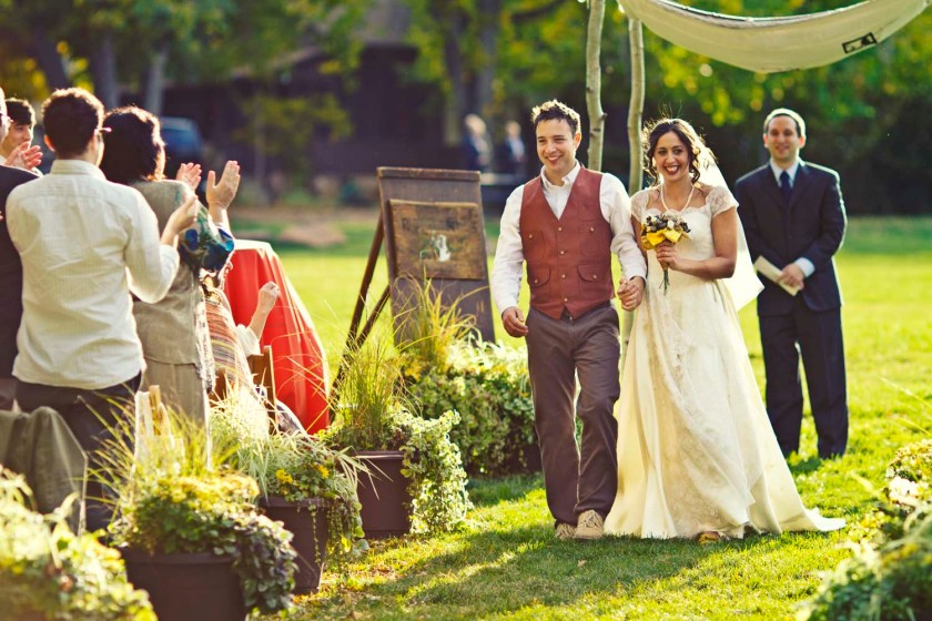 Wedding in Boulder Colorado in the Fall