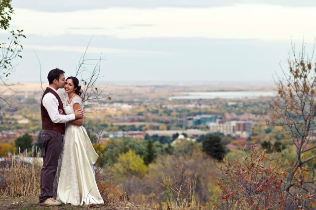 Wedding in Boulder Colorado in the Fall