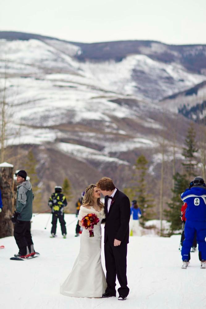 A winter wedding at the Ritz Carlton in Bachelor Gulch Colorado