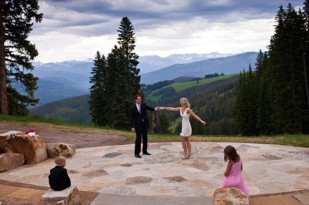 Beaver Creek Wedding deck