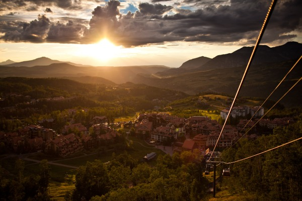 Telluride at Sunset