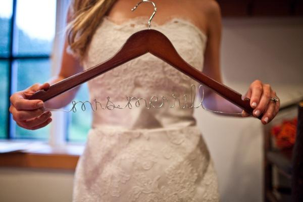 Custom Wedding Dress Hanger