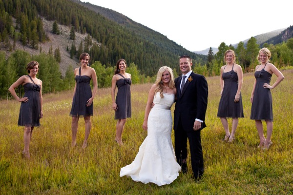 Bridal Party at Beano's Cabin in Beaver Creek Colorado
