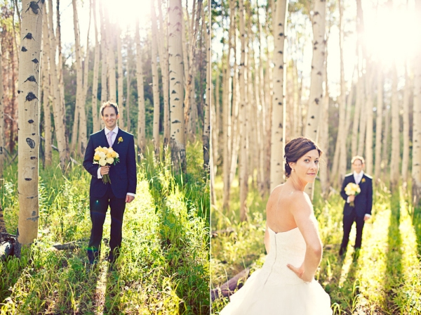 Wedding Photographs on Beaver Creek in the Aspen Trees