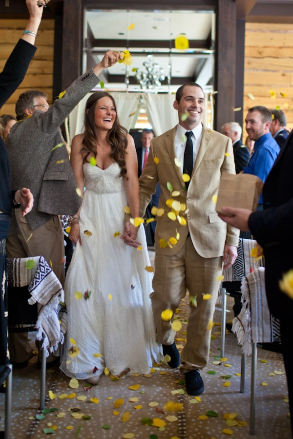 Throwing Aspen leaves at your wedding