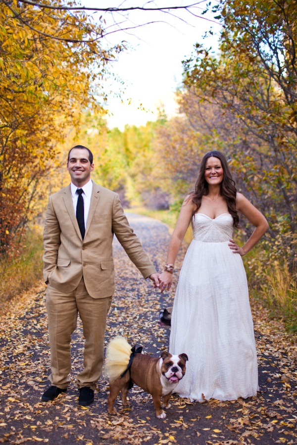 Wedding photography in the fall foliage in Aspen Colorado