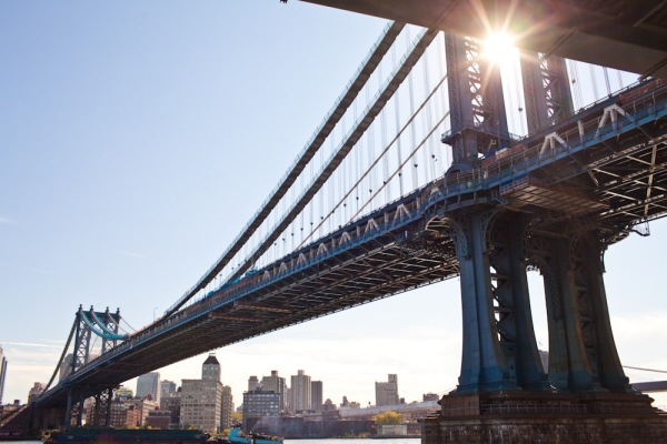Sick photo of a bridge in New York City, NY