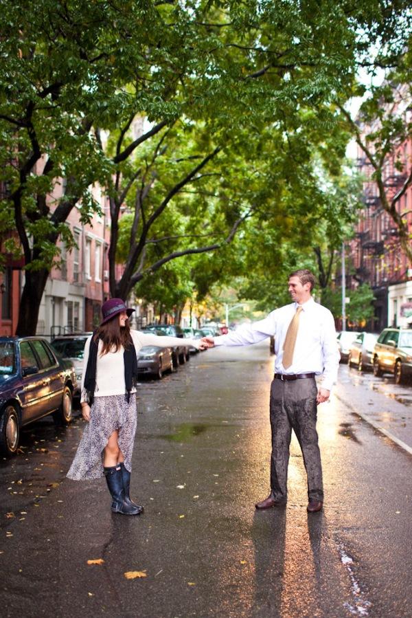 New York City Wedding Photographer, Rainy day E Session.