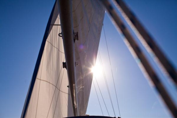 Sailing down the Chesapeake bay