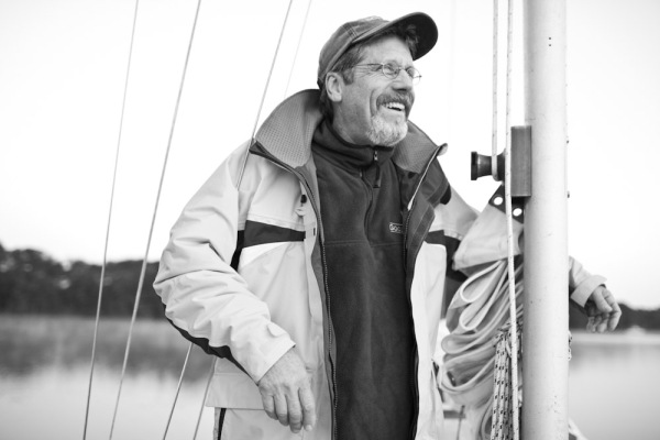 A portrait of my father on a sailing trip down the Chesapeake Bay in Maryland