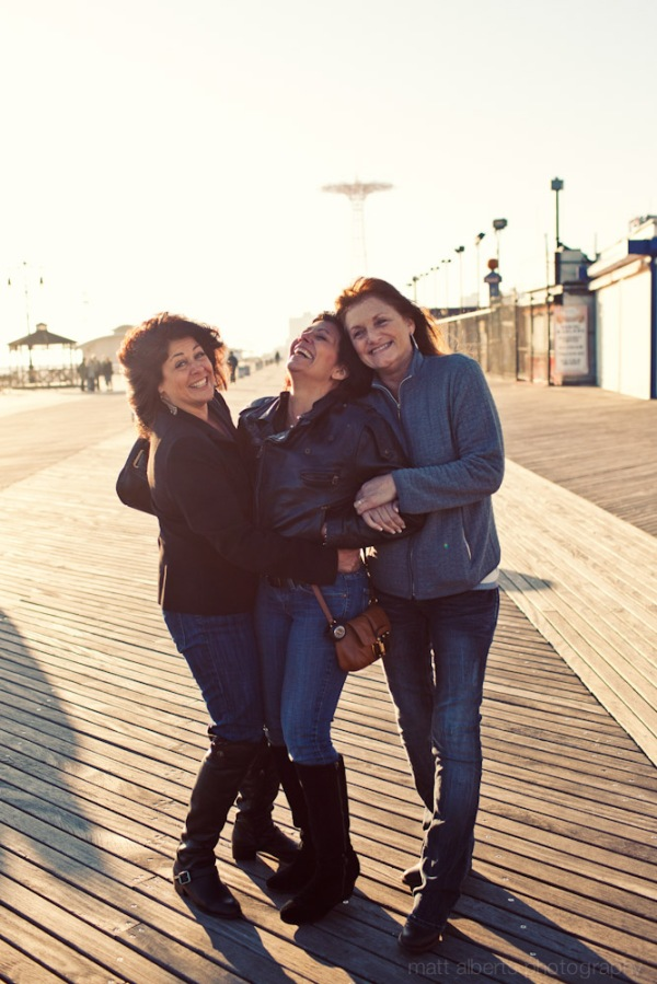 Ladies on the boardwalk in Cony Island New York City