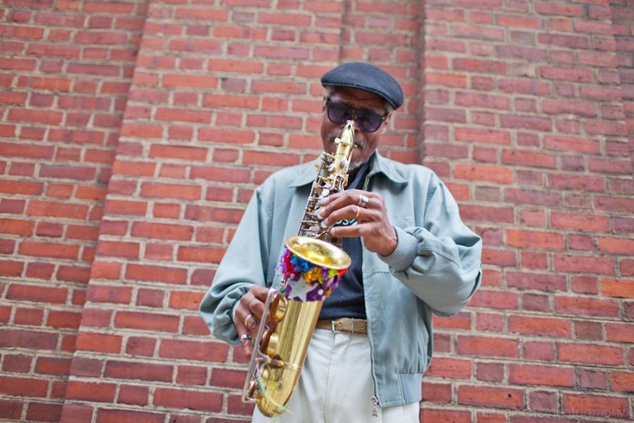 Street musician in Philadelphia Pa
