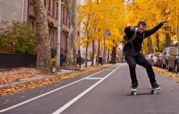 Street skateboarding in Philadelphia Pa.