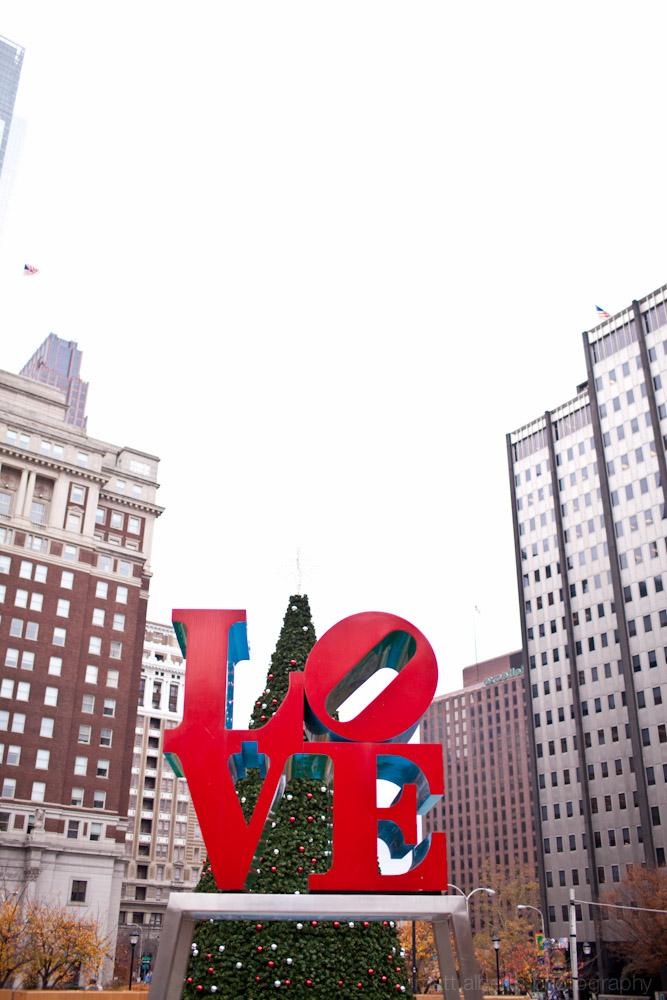 Love park statue, JFK plaza Philadelphia PA