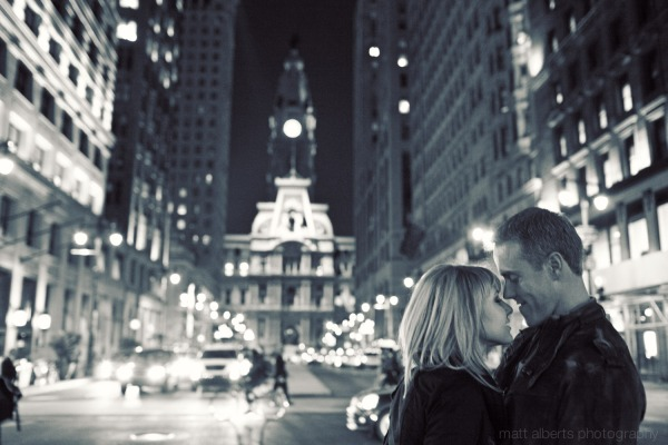 Engagement Photography at City Hall in Philadelphia Pa
