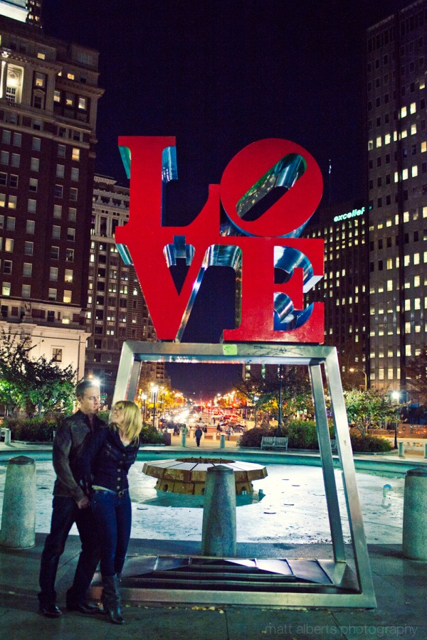 Engagement Photography at Love Park in Philadelphia Pa