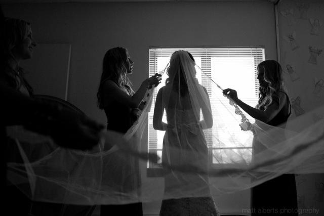 Bride getting ready at Vail Wedding Chapel in Vail Colorado