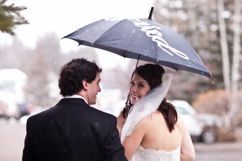 A snowy winter wedding in Vail Colorado