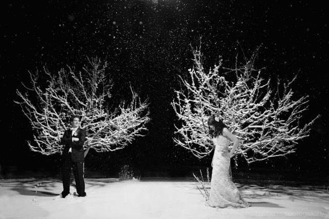 A snowy winter wedding in Vail Colorado