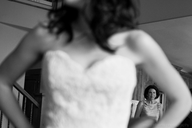 Bride getting ready at the Landmark Hotel in Vail Colorado